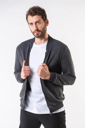 IRwear - Çizgili Kapitone Fermuarlı Ceket