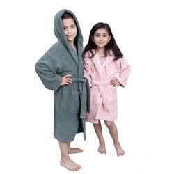 Minteks - Hidrofil Soft Çocuk Bornozu - Zümrüt Yeşil