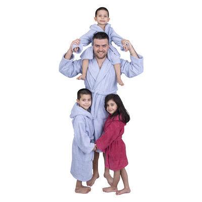 Minteks - Hidrofil Soft Erkek Bornoz - Buz Mavi