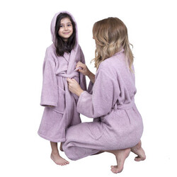 Minteks - Hidrofil Soft Kadın Bornoz - Gül Kurusu
