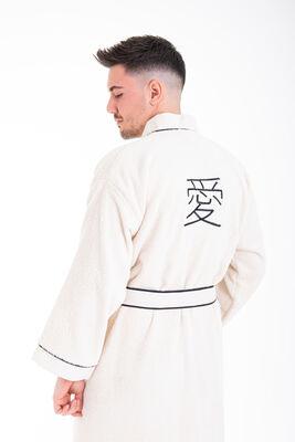 Minteks - Love Kimono Erkek Bornoz - Natural