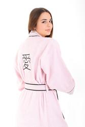 Minteks - Love Kimono Kadın Bornoz - Pudra
