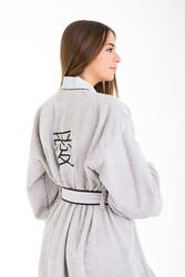 Minteks - Love Kimono Kadın Bornoz - Gri