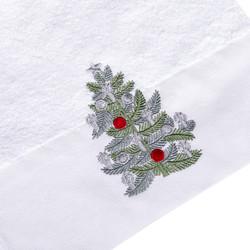 NOEL 30x50 cm. PINE TREE - BEYAZ HAVLU NYL. - Thumbnail