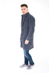 IRwear - Wellsoft Dik Yaka Düğmeli Erkek Uzun Ceket